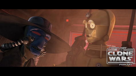 """In the middle of a routine shopping trip on Coruscant, C-3PO is abducted by bounty hunter Cad Bane. Soon, both Threepio and his astromech counterpart R2-D2 find themselves pawns in Bane's plan to free Ziro the Hutt from a heavily guarded prison in the heart of the Republic. The hapless droids are once again integral in events that threaten to unravel the future of the galaxy in """"Evil Plans"""" – an all-new episode of Star Wars: The Clone Wars airing at 9:00 p.m. ET/PT Friday, November 5th on Cartoon Network."""