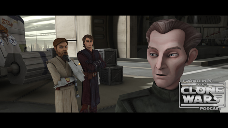 """Tarkin discusses exit strategy with Anakin and Obi-Wan in """"Citadel Rescue,"""" an all-new episode of STAR WARS: THE CLONE WARS premiering at 8:30 p.m. ET/PT Friday, March 11 on Cartoon Network. TM & © 2011 Lucasfilm Ltd. All rights reserved."""